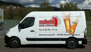 Lieferwagen Scheid Getränke